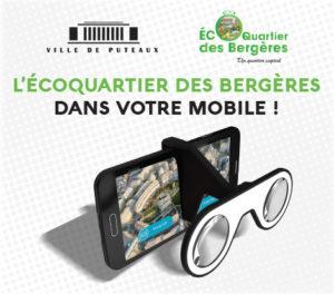 L'application mobile de visite en réalité virtuelle de l'écoquartier des Bergères à Puteaux.
