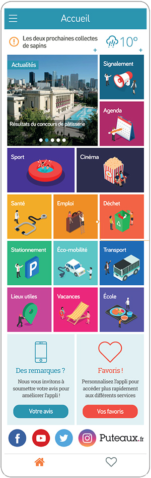 Smart Apps Ville - portail mobile unique qui agrège de nombreux services pratiques en temps réel, contributifs et personnalisables par les usagers.