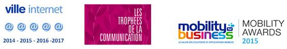 Prix pour l'application Puteaux Mobile en 2015.
