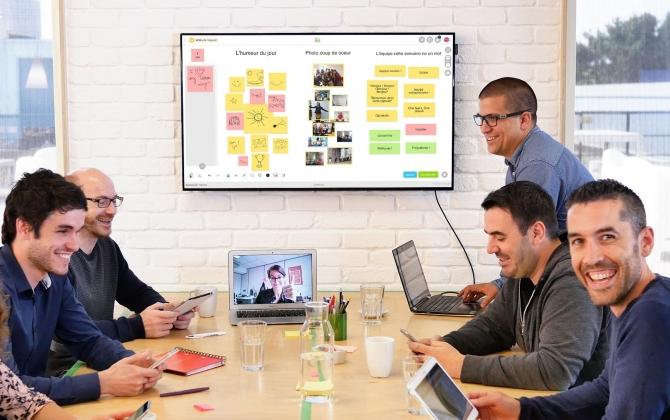 """Ateliers de co-design, basés sur l'approche Nudge, peuvent également être animés avec des outils digitaux collaboratifs innovants comme """"Klaxoon""""."""
