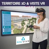 Territoire Maquette 3D et Visite en réalité virtuelle